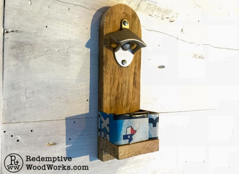 License Plate Bottle Openers from PalletWood