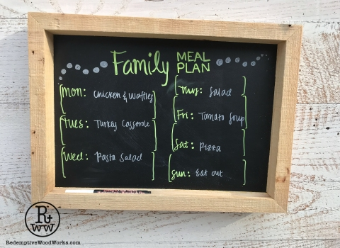 Chalkboards from Reclaimed PalletWood