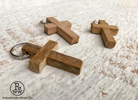 Cross Pendants made from Reclaimed TobaccoSticks