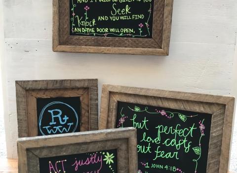 Chalkboards from Reclaimed TobaccoSticks