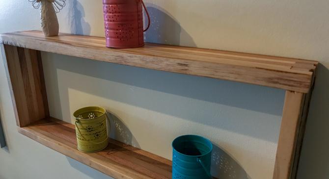 Reclaimed Hardwood Shelf