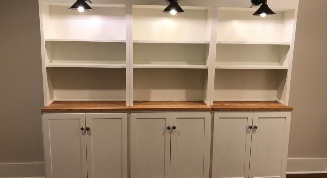 Lighted Bookshelf Cabinets